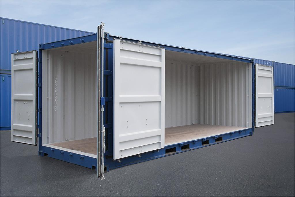Double doors container   Lewoundoun Ke Import - Export